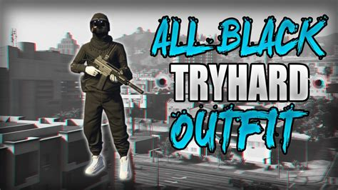 All Black Freemode Tryhard Outfit Using Clothing Glitches