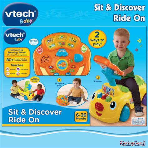baby bureau vtech vtech baby sit discover ride on