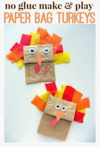 no glue turkey craft for thanksgiving no time for flash cards