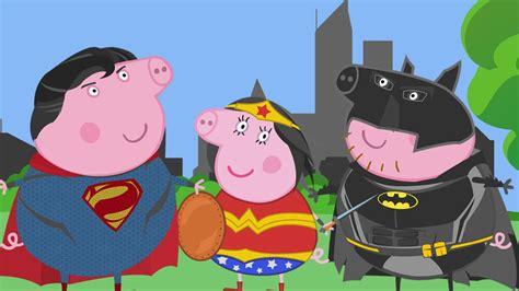 superman peppa pig and peppa pig batman vs superman fighting superheroes in