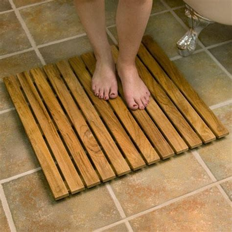 "30"" Square Teak Shower Mat Bathroom"