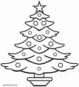 Tree Coloring Christmas Drawing Pages Line Simple Outline Sketch Printable Adults Draw Drawings Trees Clipart Pencil Natal Pine Colouring Xmas sketch template