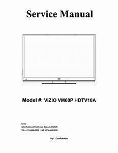 Vizio Vm60p Hdtv10a Plasma Tv Sm Service Manual Download