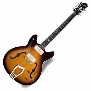 Hagstrom Viking P Semi Hollow Body Guitar  Tobacco
