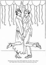 Roaring Coloring Twenties Fashions Dover Publications Flappers Dance Template Templates sketch template