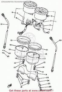Yamaha Sr500 1981 Usa Speedometer-tachometer