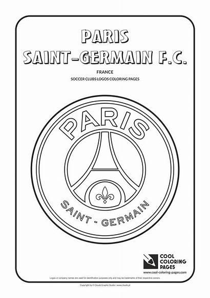 Coloring Pages Paris Soccer Logos Cool Germain