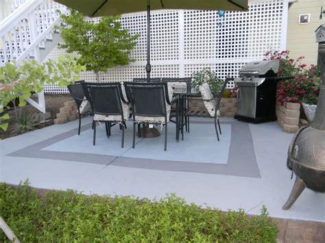 painted concrete patio my garden concrete