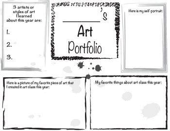 15184 portfolio design for elementary students portfolio cover sheet by franco teachers pay