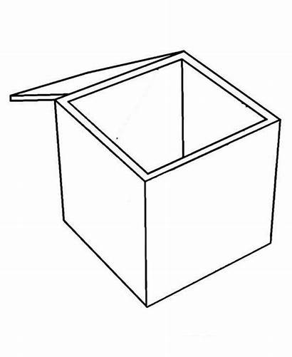 Coloring Colouring Clipart Empty Boxes Template Sun