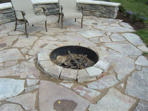 flagstone pit patio flagstone patio fond du lac fagstone with sunken fire pit on lake sylvia fire pit for