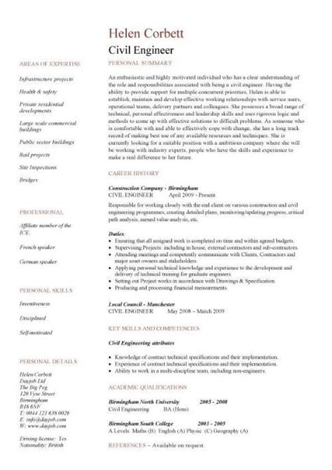 pin  job resume  job resume samples engineering