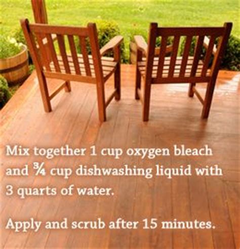 oxygen deck cleaner recipe deck cleaner