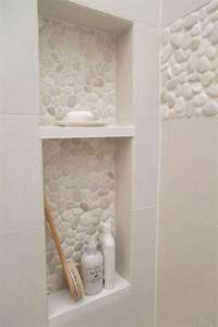 60 nichos para banheiros ideias e fotos lindas With couleur de meuble tendance 16 etagare murale dans niche petite salle de bains leroy merlin