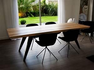 Table Bois Massif Metal : table amazone de salle manger m tal et bois massif ~ Teatrodelosmanantiales.com Idées de Décoration