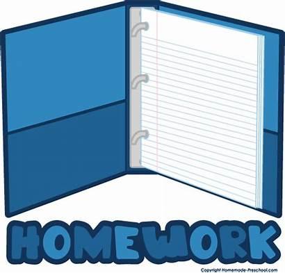 Clipart Folder Homework Clip Cliparts Related Preschool