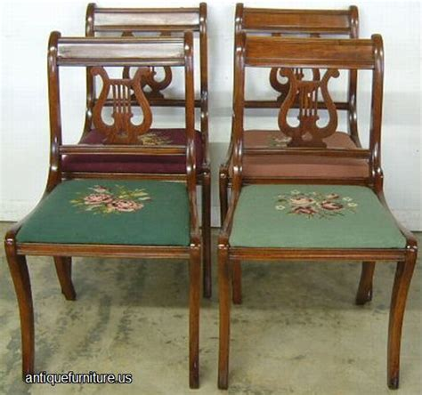 Lyre Back Chairs Antique by Antique Mahogany Lyre Back Needlepoint Chairs At Antique