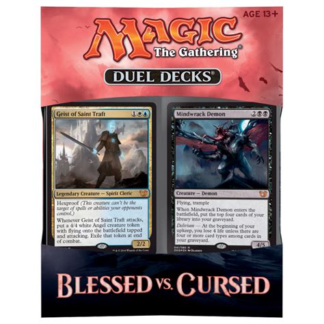 duel deck blessed vs cursed magic the gathering from