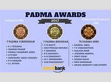 kmhouseindia 2017 Padma Awards President Pranab