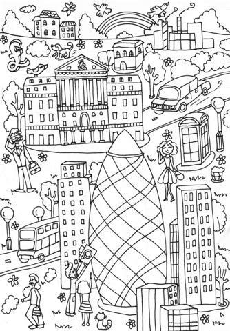 st mary axe  bank  england coloring page