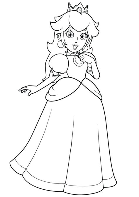 princess peach daisy  rosalina coloring pages  getcoloringscom  printable colorings