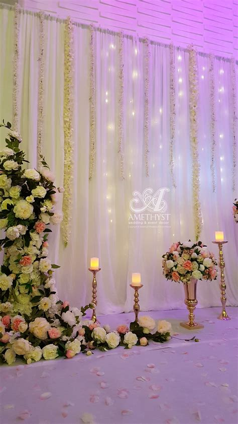 wisteria fairy light backdrop