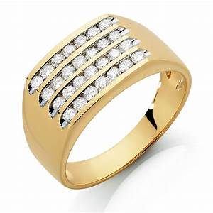 men39s ring with 1 carat tw of diamonds in 10ct yellow gold With michael hill mens wedding rings