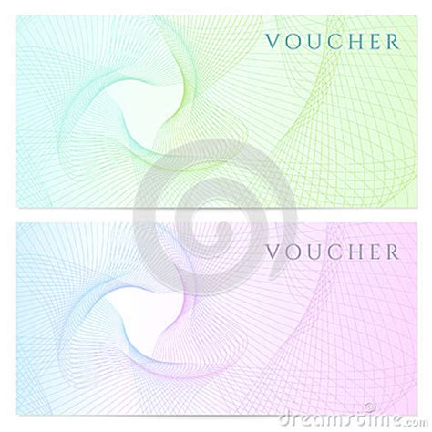 gift certificate voucher coupon template color royalty