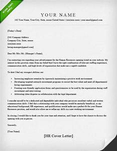 human resources cover letter sample resume genius With cover letter addressed to human resources