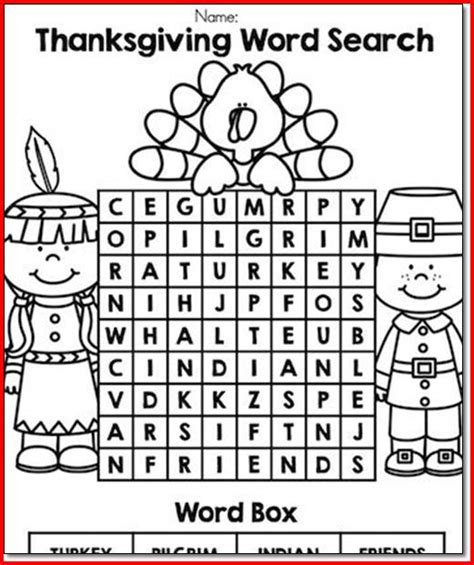 thanksgiving language arts worksheets for kindergarten