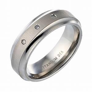 men39s titanium diamond engagement ring hsamuel With titanium diamond wedding rings