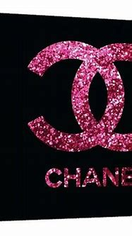 Pink and black Glitter Chanel logo Canvas by TypeAndStyle ...