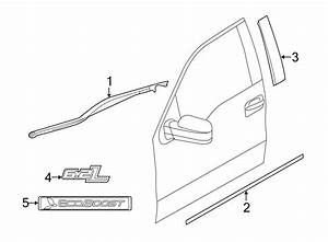 Ford F-150 Body Trim Molding  Front  Right