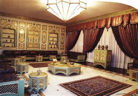 rideaux cuisine originaux un joli salon marocain traditionnel