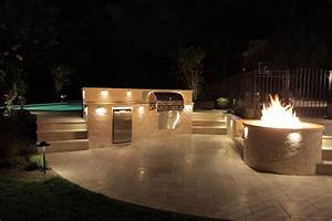Outdoor kitchen and curved deck rusk enterprises llc