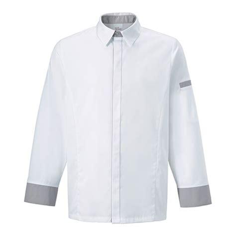 camicie da cucina giacca camicia da chef basilico e grigia