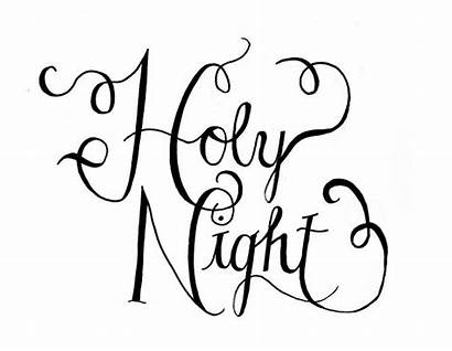 Christmas Template Silent Stencils Templates Night Holy