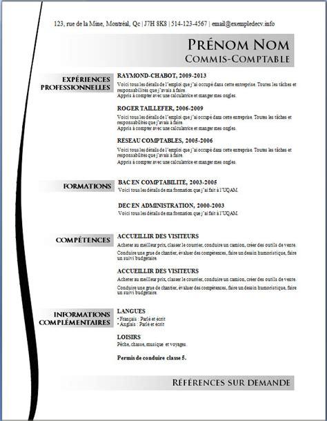 Exemple De Cv Professionnel by Cv Professionnel Gratuit Format Word Px54 Jornalagora