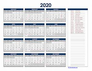 2020 Yearly Calendar Template Word 2020 Pakistan Yearly Excel Calendar Free Printable Templates