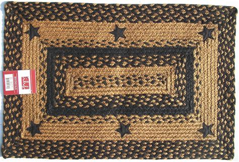 Primitive Rugs With - ihf applique black braided jute rug rustic