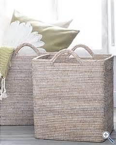 Whitewashed Basket Storage