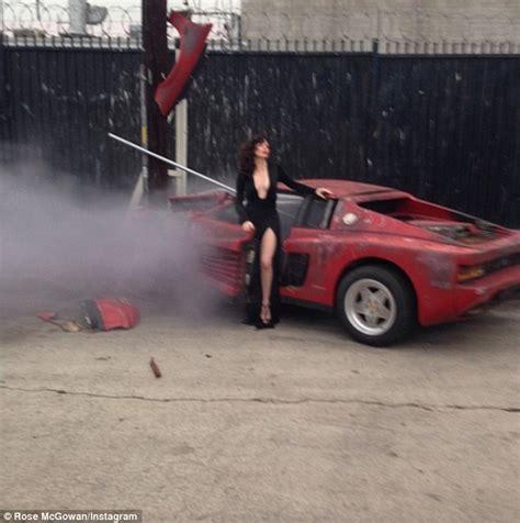Rose McGowan Car Accident