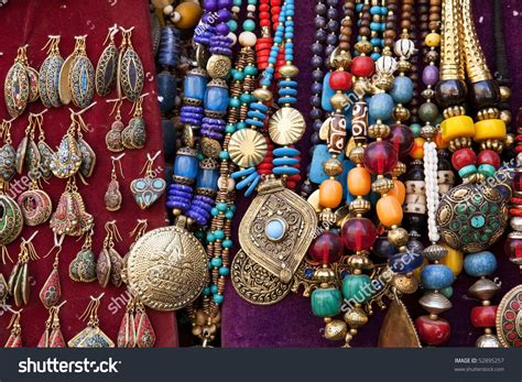 Colorful Traditional Indian Jewelry Sold At Weekly Market In Anjuna, Goa ( India) Stockfoto Jewelry Torch Setup Free Christian Just Pay Shipping Set Photography Jewellery Locket Canada Sale Sets Bridal Gold Nz