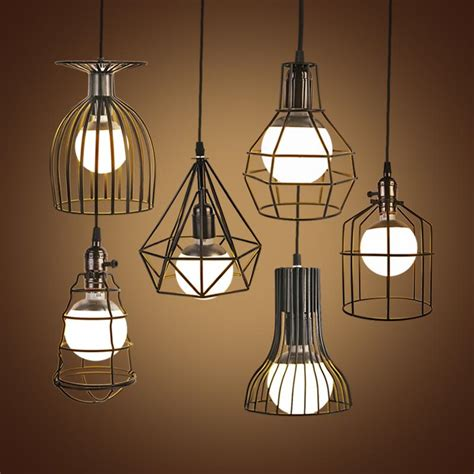 aliexpress buy vintage iron industrial pendant light