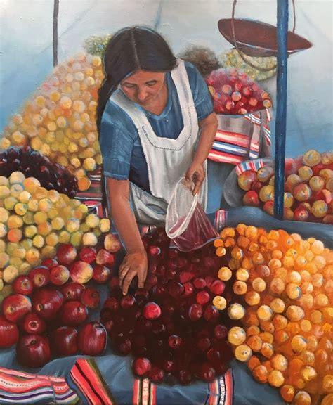 boliviana de la feria de koehler 243 leo sobre tela pinturas sur de chile
