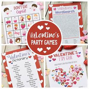 50 Fun Valentine's Day Party Ideas-Treats-Crafts, Games ...