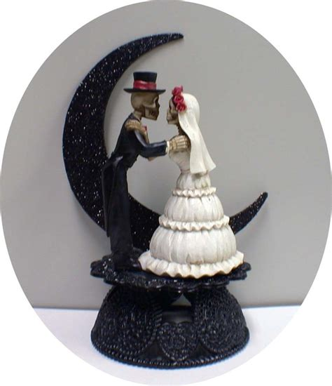 Day Of The Dead Halloween Wedding Cake Topper Funny