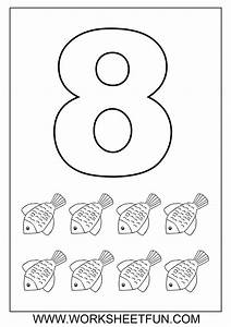 Free coloring pages of number 8 trace