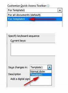 Macro enabled template for Microsoft word macro enabled template