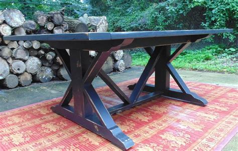 Handmade Reclaimed Wood Chevron X Style Farmhouse Table by